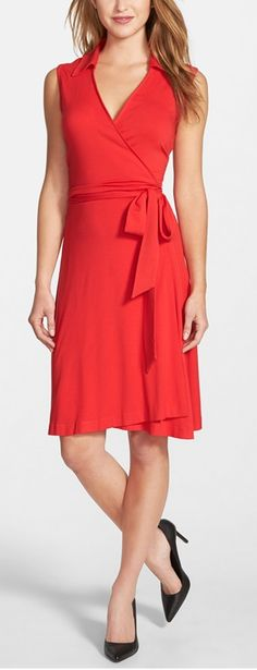 red jersey wrap dress - best of Nordstrom Anniversary Sale