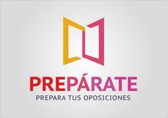 Diseño de logotipo para página web de preparación de oposiciones para maestro.