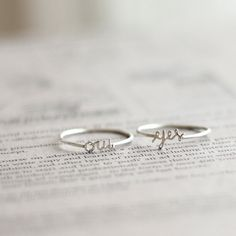 cute little rings
