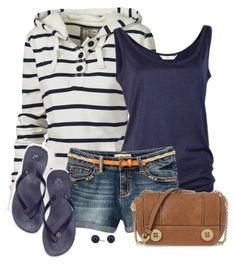 """""""Shorts, Tank & Hoody"""" by daiscat ❤ liked on Polyvore featuring Fat Face, Vix, Milly and Betty Jackson"""