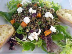 Mycarolinakitchen.blog French lentil salad with goat cheese