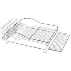 $27.  Good looking and low profile for something that remains on the countertop 365. Glass Rack, Dish Racks, Outdoor Chairs, Outdoor Decor, Kitchen Dishes, Chrome Plating, Kitchen Storage, Kitchenware, Contemporary Design