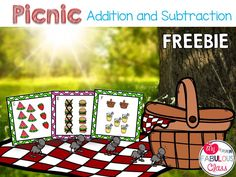 FREE Picnic addition and subtraction math centers.