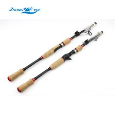 High Quality spinning Fishing Rod Carbon M power 2.1M 2.4M Portable Telescopic Fishing Rod Spinning Fish Free shipping #women, #men, #hats, #watches, #belts, #fashion, #style