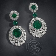 Eye of beauty - Steeped in myth and at the heart of legends, the peacock is symbolic of nobility, good luck and pride. Graff's design team have drawn on the elegance of the majestic creature to create the stunning Peacock collection. Incorporating over 31 carats of the rarest Colombian emeralds, each set within the eye of the peacock feather; these incredible earrings are a truly show-stopping showcase of the finest jewels. #GraffDiamonds #Emerald