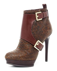 MICHAEL Michael Kors  Buckled Ankle Boot.  I may have to have these!