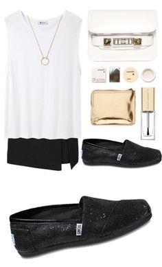 Black Toms Glitters Women's Shoes