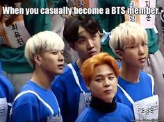 Haha I wish he was part of BTS