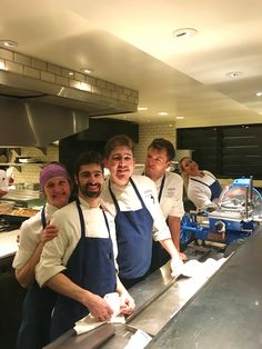 Some of the crew! Chef Dana, Chef Greg, Chef de Cuisine Justin, Chef Tom, and Lily back there looking happy as a clam!