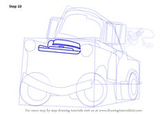 Step by Step How to Draw Tow Mater from Cars : DrawingTutorials101.com Cartoon Car Drawing, Cartoon Head, Car Drawings, Learn Drawing, Learn To Draw, Projects For Kids, Art Projects, Spring Desktop Wallpaper, Tow Mater