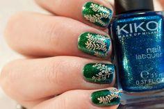 MoYou Enchanted stamping vines on blue and green gradient with KIKO nail polishes Enchanted, My Nails, Class Ring, Vines, Manicure, Nail Polish, Make Up, Art, Nail Bar