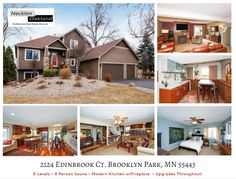 This unique 5 level was just listed in Brooklyn Park! Kitchen has NEW walnut flrs, dark cherry cabinets, granite counters, & SS appliances! Huge Master, w/i closet w/sink & vanity, limestone shower w/jet sprayers! LL w/o rec. rm, bar. Sauna fits 8! updated exterior & yard. Bike trail & more!   For more photos & info visit: http://www.mndreams.com/listing/mlsid/152/propertyid/4575013/  or take a virtual tour: http://www.obeo.com/982915
