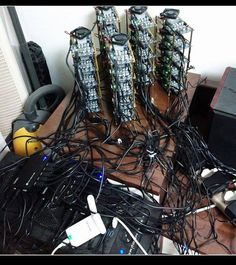 The future seems to be here for bitcoin mining.  FPGA Development - 9.5 Gig Rig.  LIKE if you think this Rig is Awesome!!