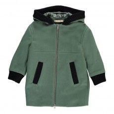 Hooded Coat Chrome green