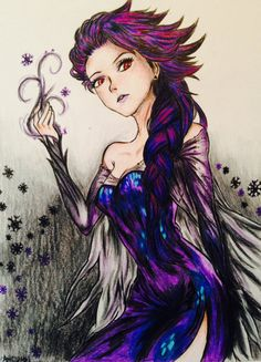 Dark Elsa by ZANEkun