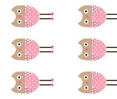 Girly Owls! fabric by natitys on Spoonflower - custom fabric