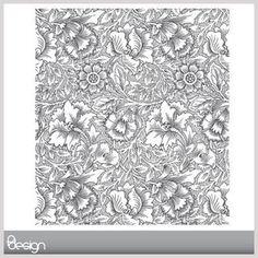 Art Noveau Flower Pattern