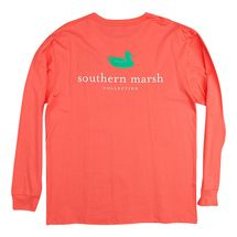Southern Marsh Authentic L/S T-Shirt - Coral