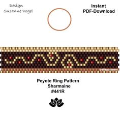 peyote ring pattern,PDF-Download, #441R, beading pattern, beading tutorials, ring pattern,pdf file,pdf pattern,pattern design,bellepatterns von bellepatterns auf Etsy Peyote Beading, Jewelry Patterns, Beading Patterns, Tutorial Anillo, Ring Designs, Peyote Stitch Patterns, Tear, Seed Bead Jewelry, Loom Bracelets