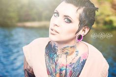 Amanda Pocalypse tattooed model, pixie hair, TRD photography