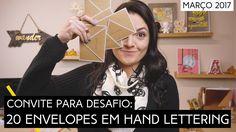 Desafio de março: 20 envelopes em Hand Lettering | by Aline Albino