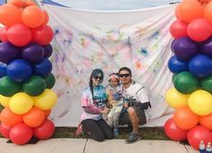 Victoria and her family had fun at their #ColorAThon last weekend!
