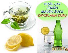 Yeşil Çay, Limon ve Maden Suyu