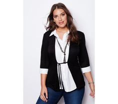Tričko s efektom 2 v 1 a náhrdelníkom | modino.sk  #ModinoSK #modino_sk #modino_style #style #fashion #bellisima #shirt