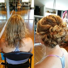 Fun curled updo with some extra volume.