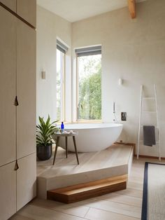 Freestanding bath with a view in the corner of the master bedroom Devon House, Freestanding Bath, Master Bedroom, Bathtub, Corner, Bathroom, Freestanding Tub, Master Suite, Standing Bath