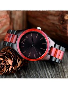 Hand watch made of wood Hand Watch, Stylish Watches, Made Of Wood, Natural Materials, 3d, Handmade, Gifts, Accessories, Design