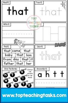 Kindergarten Sight Words Activity Worksheets Dolch - My Winter Break 2020 Sight Word Activities, Phonics Activities, Kindergarten Worksheets, Sight Words For Kindergarten, Lkg Worksheets, Kindergarten Language Arts, Pre K Sight Words, Dolch Sight Words, Sight Word Flashcards