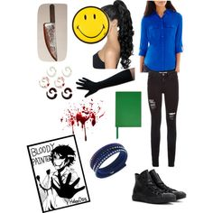 The Bloody Painter Creepypasta outfit by ender1027 on Polyvore