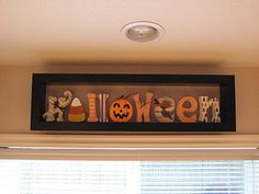 Green Eyed Girl Crafts...: Halloween Wood Letters... Cute!