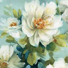 Lisa Audit: Reflections III Crop Fertig-Bild 45x45 Landhaus Blumen Wandbild Deko