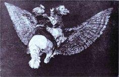 Absurdity Flying - Francisco Goya
