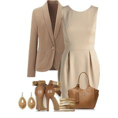 """""""Brown and Beige"""" by terry-tlc on Polyvore"""