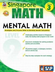 Make math matter to students in grade 3 using Singapore Math: Mental Math! This 64-page workbook follows the Singapore math method to prepare students for learning addition, subtraction, and multiplic