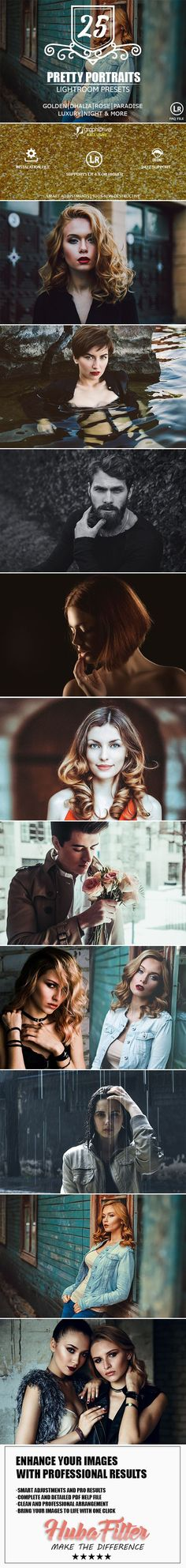 25 Pretty Portraits Lightroom Presets by HubaFilter About 25 Pretty PortraitsLightroom Presets:25 Pretty PortraitsLightroom Presetsallows you to produce your own signature style and