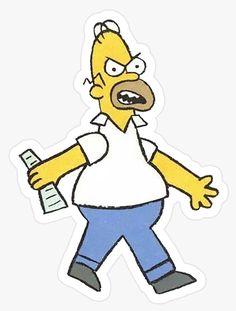 Papá enojado. Simpsons Tumblr Stickers, Cool Stickers, Printable Stickers, Laptop Stickers, Planner Stickers, Simpson Art, Homer Simpson, Simpsons Tattoo, Simpsons Drawings