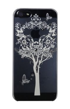 Clear Tree and Butterfly for iPhone5