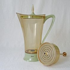 Vintage Oster Electric Percolator Coffee Pot Space Age Atomic Age Mid Century Modern