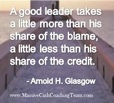 because he/she knows that the leader is responsible for the followers' mistakes (bad management=bad performance) and the followers are working hard for achievements...