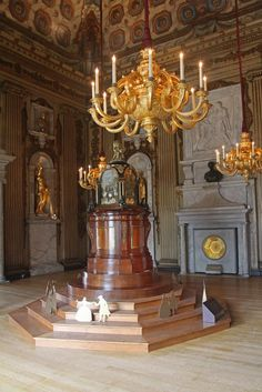 Kensington Palace Cupola Room - London, designed by William Kent in 1722 where Queen Victoria was baptised