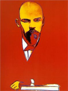 Andy Warhol: Red Lenin, 1987.