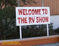 THIS is the place! Visiting the huge Florida RV Super Show with snowbirdrvtrails.com! Rv Show, The Fl, Florida, The Florida