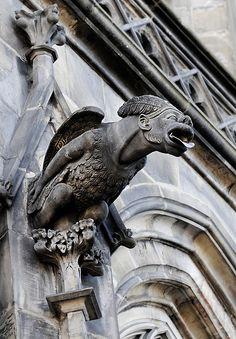 Prague gothic cathedral gargoyle - House Of The Holy - Architecture Gothic Architecture, Architecture Details, Gothic Gargoyles, Gothic Cathedral, Prague Cathedral, Stone Sculpture, Gothic Art, Green Man, Kirchen