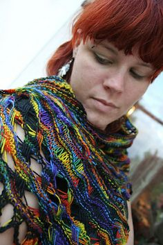 Ravelry: Iris - Goddess of Rainbow Shawl pattern by Natascha Vögele