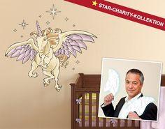 """Charles Rettinghaus für die Star-Charity-Kollektion. Sein Motiv ist das """"Einhorn mit Flügeln""""."""