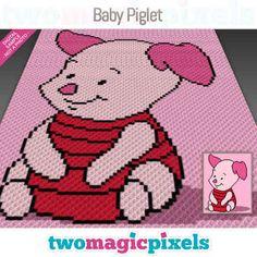Afghan Crochet Patterns, Crochet Chart, Crochet Baby, Crocheting Patterns, Baby Piglets, Corner To Corner Crochet, Crochet Disney, Kids Blankets, Bobble Stitch